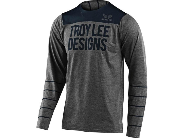 Troy Lee Designs Skyline LS Jersey pinstripe heather grey/navy